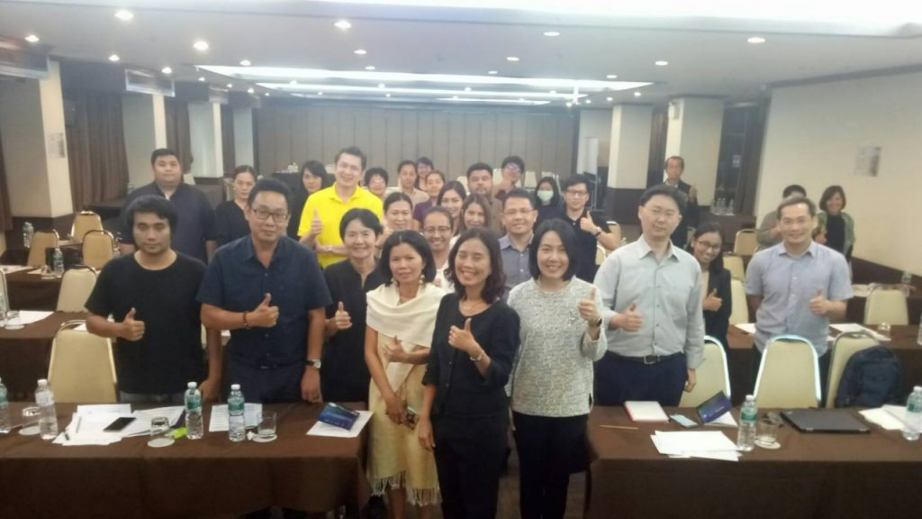 """ภาพบรรยากาศการฝึกอบรมหลักสูตร """"โคชชิ่ง SME สำหรับการก้าวสู่สุดยอด SME"""" รุ่นที่ 3"""